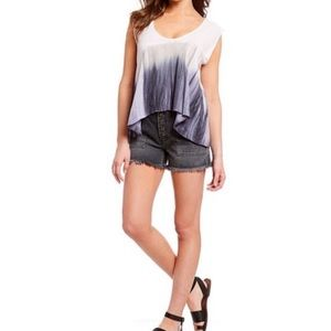 NWT We The Free Paradise Tee Lilac Fog Draped Top